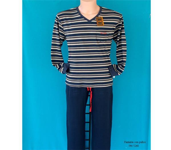 e9dc4520a3 Imagen. Pijama hombre de entretiempo 100% algodón Pettrus