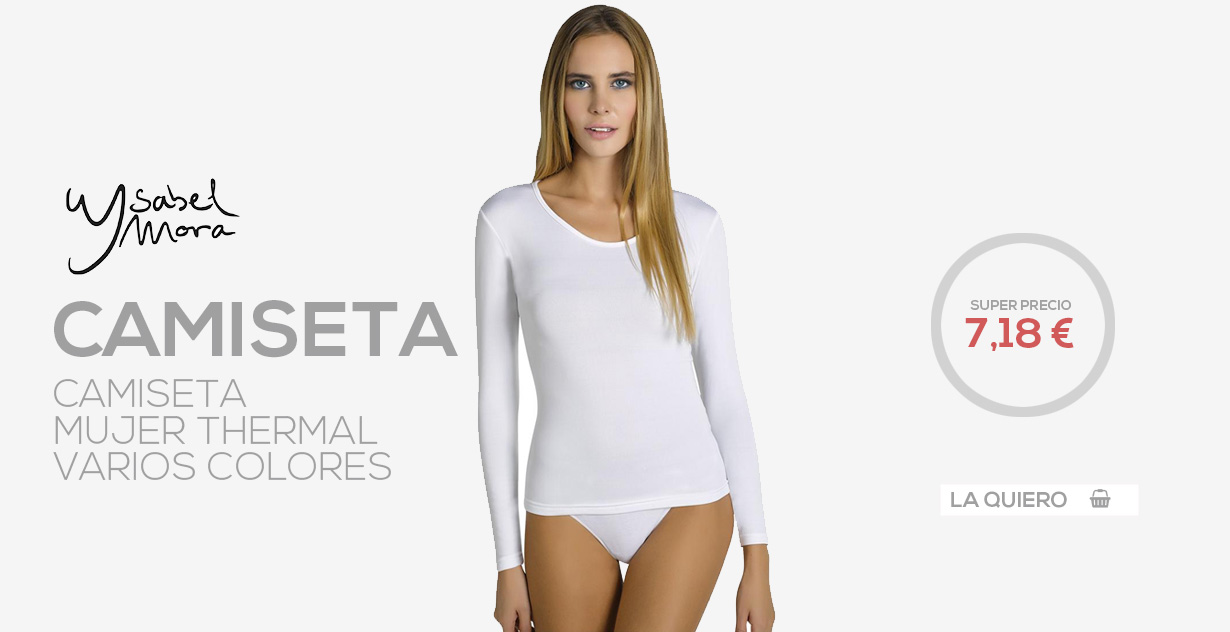 Ysabel mora camiseta thermal interior mujer